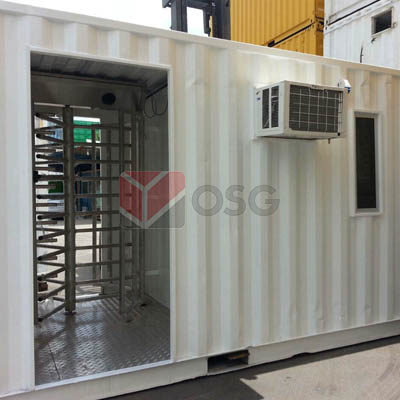 Container Customization - 20x8 Turnstile Office