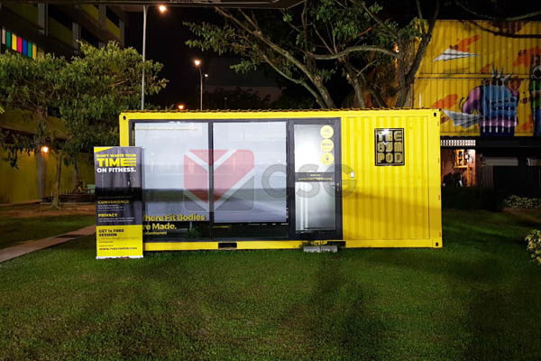 cafe container, shipping container architecture, container designs, container events, container shops, container displays, container pop-up, container kitchen, container bar, temporary space, container backdrop, event container, gym container, container gym