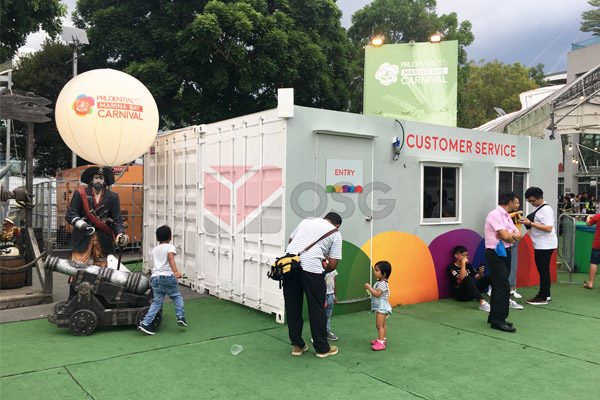 Customer Service Booth from Office Container