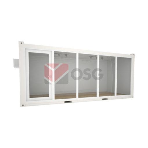 Modulux Combi with Glass Door & Panels